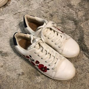 a new day embroidered sneakers